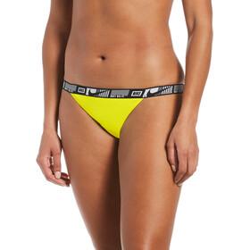 Nike Swim Logo Tape Banded Bikini Bottoms Women, amarillo